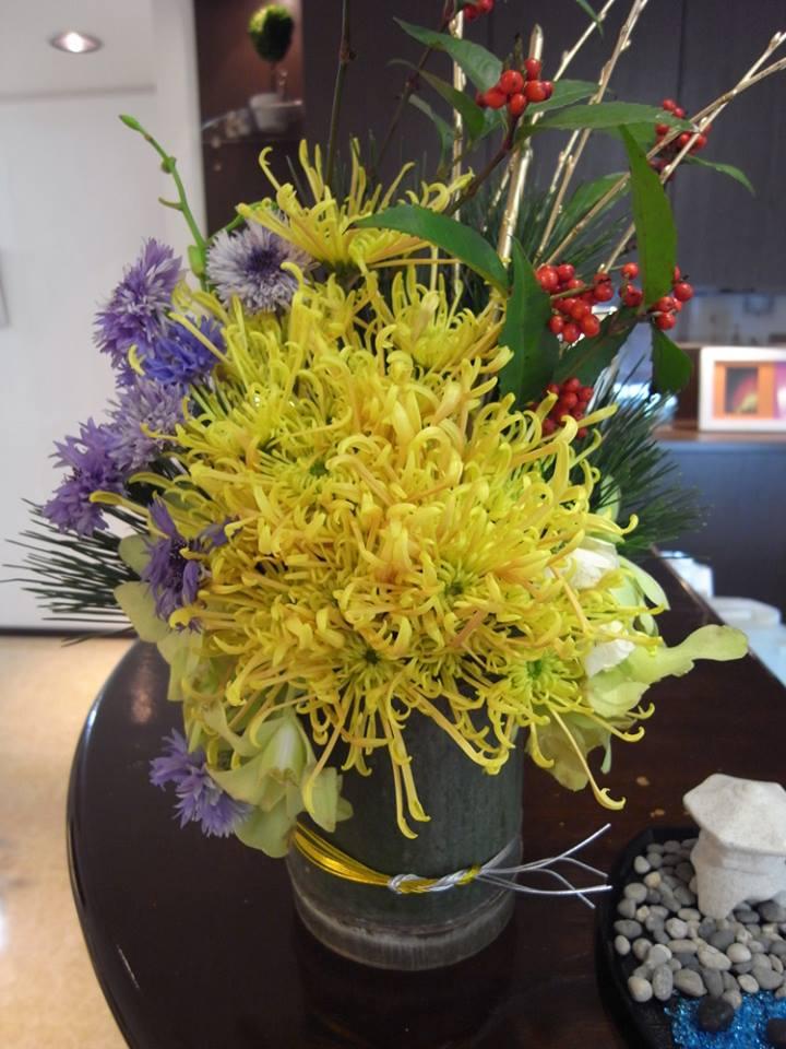 正月らしい今月のお花